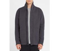 Anthrazitgrau meliertes, langes Sweatshirt Tech Fleece