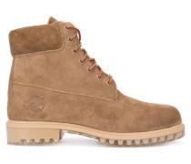 Braune Veloursleder-Boots 6 Inch