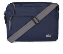 Marineblaue Messengertasche mit Tasche auf Vorderseite