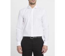 Weißes Hemd mit italienischem Kragen und Stretchanteil Thompson