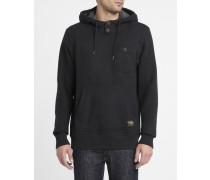 Schwarzer Kapuzensweater Sherpa