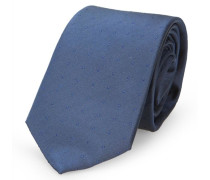 Blaue Krawatte mit verschwimmendem Punktmuster