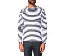 Dunkelblau-weiß gestreiftes Marine-Shirt