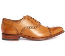 Cognacfarbene Richelieu-Schuhe Tom mit aufgesetzter Kuppe