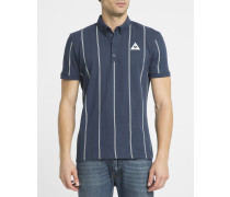 Blaues Poloshirt Tennis Stripes