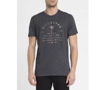 Schwarzes T-Shirt mit Vibes-Print