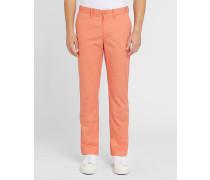 Orange Chino-Hose mit -Logo Pr