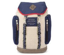 Blauer Rucksack aus Nylon und Sherpa