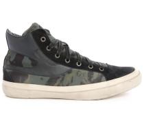 Khakibraune Sneakers Tarnmuster S-Kwaartzz