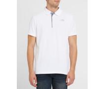 Weißes Poloshirt Pr