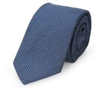 Schwarz-blaue Krawatte mit kleinem Karomuster