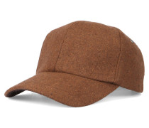 Basecap aus Wolle in Camel