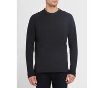 Schwarzes Sweatshirt Tech Fleece mit Kängurutasche