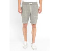 Grau melierte Jersey-Shorts Pocket