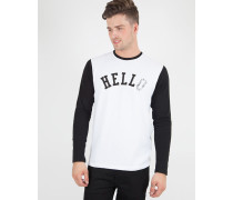 Hello Long Sleeved T-Shirt White/Black