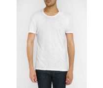 Weißes T-Shirt Jac aus Flamé-Baumwolle