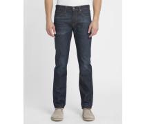 Verwaschene dunkelblaue Slim Jeans 511