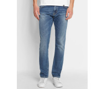 Ausgewaschen blaue Jeans Slim Tapered Fit Stretch Rebel