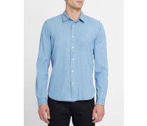 Blaues Slim-Hemd Vintage
