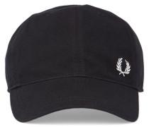 Schwarzes Basecap aus Piqué mit Logo