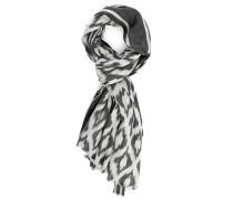 Graues Halstuch aus Wolle mit weißem Muster