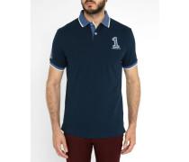 Marineblaues Poloshirt Nummer