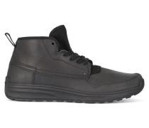 Halbhohe schwarze Sneaker aus zwei Materialien Falcon