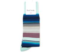 Himmelblaue Socken Stripes