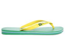 Grün-gelbe zweifarbige Flip-Flops Classic