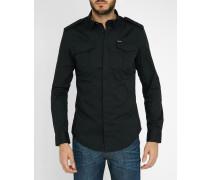 Schwarzes Slim-Hemd mit aufgesetzten Taschen Haul