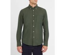 Grünes Flanellhemd