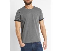 T-shirt Tero graumeliert - schwarz