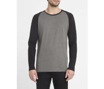 Grau meliertes und schwarzes T-Shirt ML Louis
