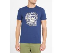 Blaues T-Shirt mit Schiffsmotiv