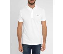 Weißes kurzärmeliges Poloshirt mit -Logo