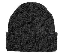 Schwarze Mütze mit Kontrasten