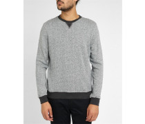 Sweatshirt Terry Baumwolle, blau-grau meliert