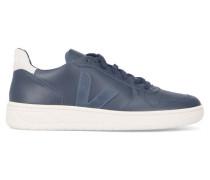 Marineblaue Leder-Sneaker V10