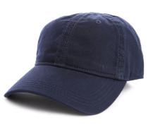 Marineblaue Mütze aus Baumwoll-Gabardine