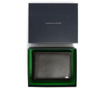 Italienische Brieftasche aus braunem Glattleder