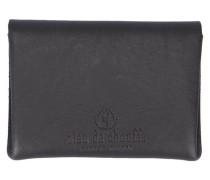Schwarze Brieftasche aus vegetabil gegerbtem Leder Talbin