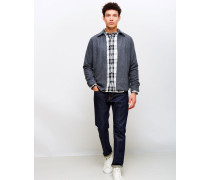Industry Zip Shirt Grey Marl