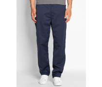 Hose Straight Fit Simple Denison in Washed-Marineblau
