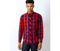 Wolker Overshirt Long Sleeve Victor Check Red