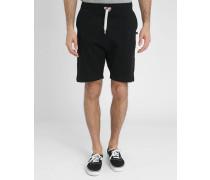 Schwarze Molton-Shorts Loose