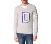 Pullover mit V-Ausschnitt und Logo D Finferlo