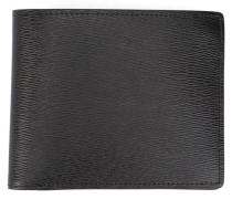 Portemonnaie aus schwarz-rotem Leder Aymeric