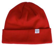 Mütze aus Merinowolle in Rot