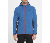 Blaue Fleecejacke mit Kapuze Performance Better Sweater mit Kontrasten