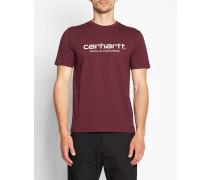 Rotes T-Shirt mit Rundhalsausschnitt und WIP-Logo
